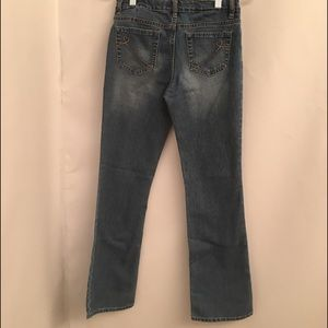 1989 Place Girls Jeans Size 14 Bootcut Light wash